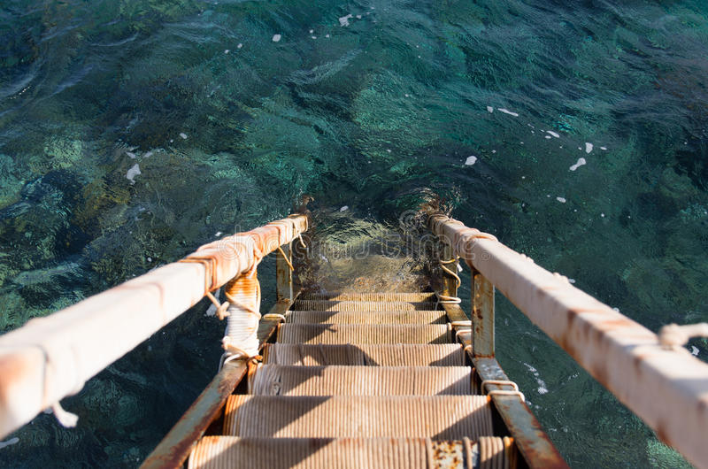 Descent to the sea. During summer stock photos
