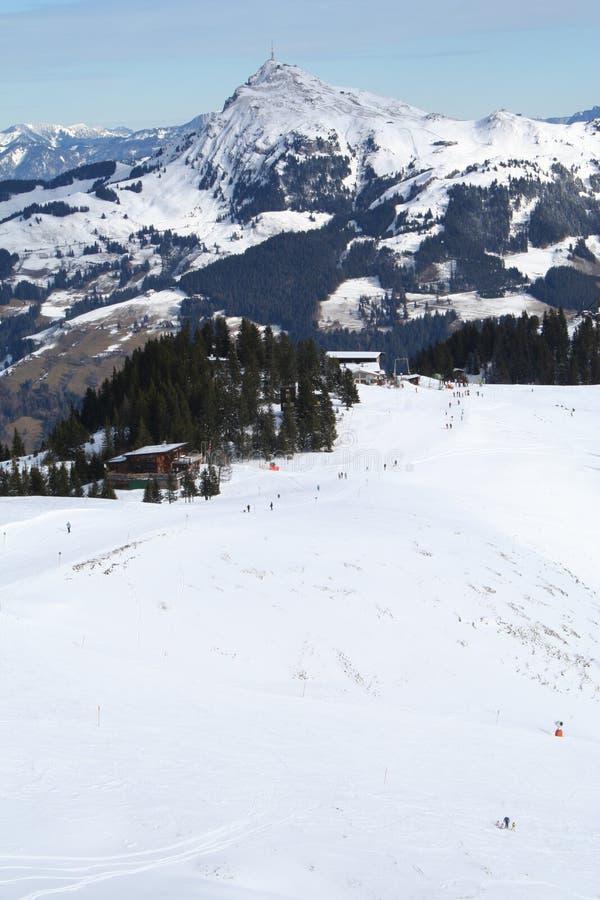 Descente De Ski, Autriche. Images libres de droits