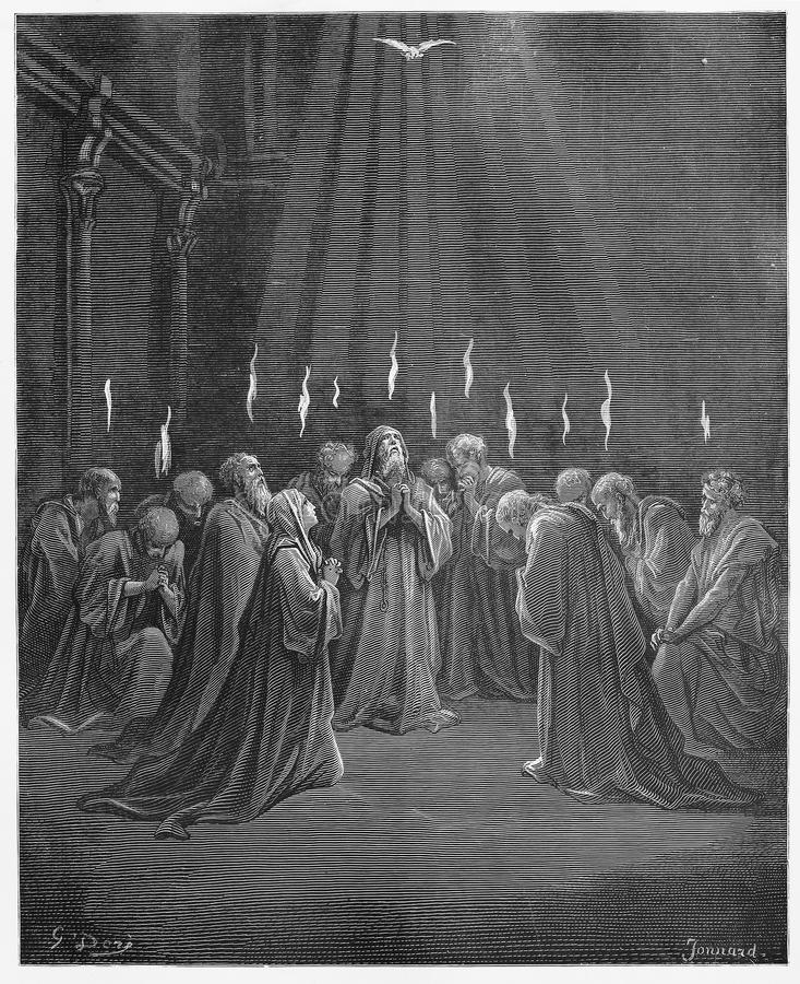 Descente du Saint-Esprit illustration stock
