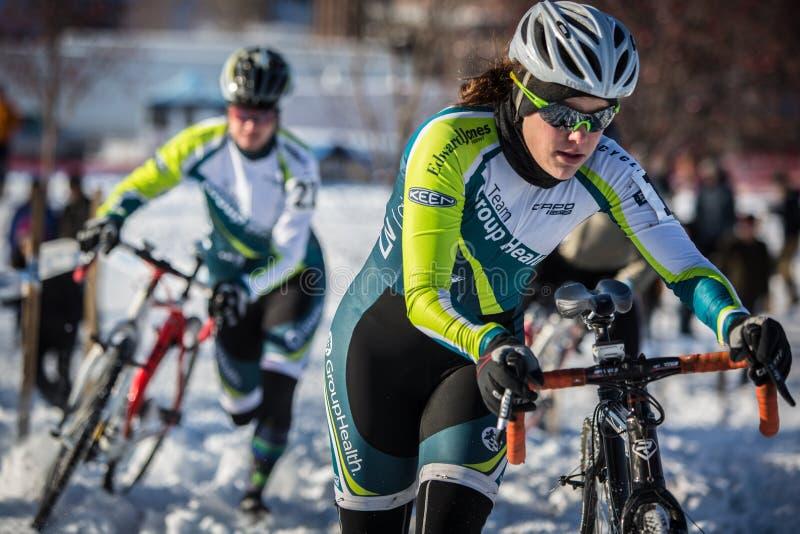 Deschutes-Brauerei-Schale Cyclocross lizenzfreie stockbilder