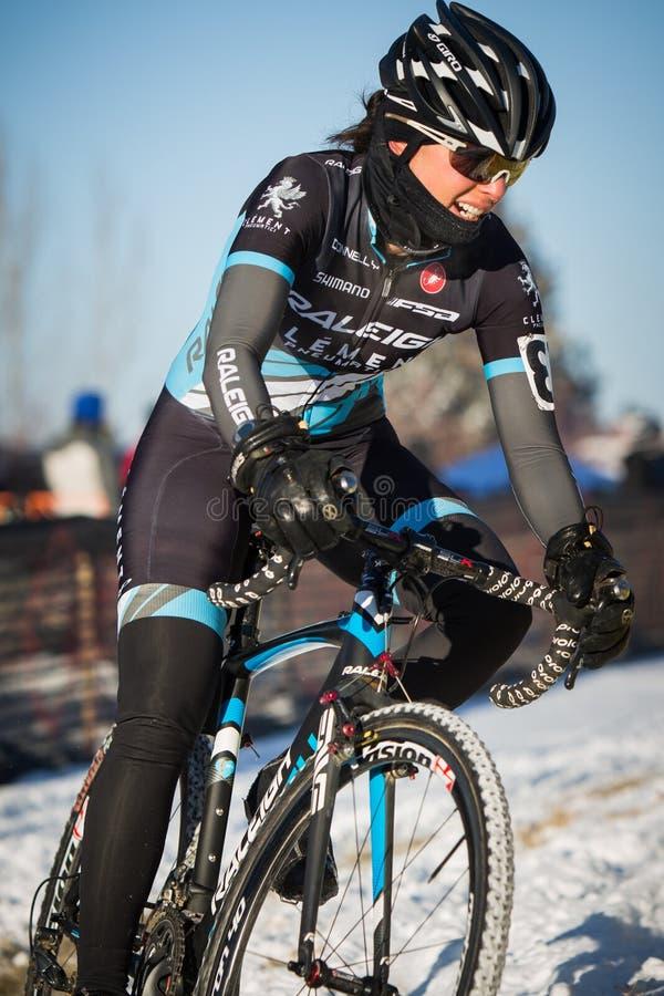 Deschutes-Brauerei-Schale Cyclocross: Caroline Mani lizenzfreie stockbilder