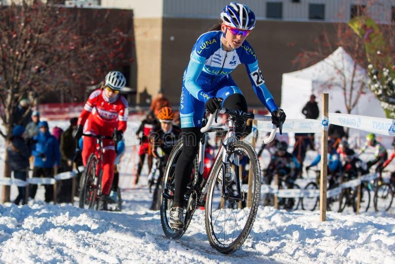 Deschutes-Brauerei-Schale Cyclocross: Kate?ina Nash lizenzfreie stockbilder
