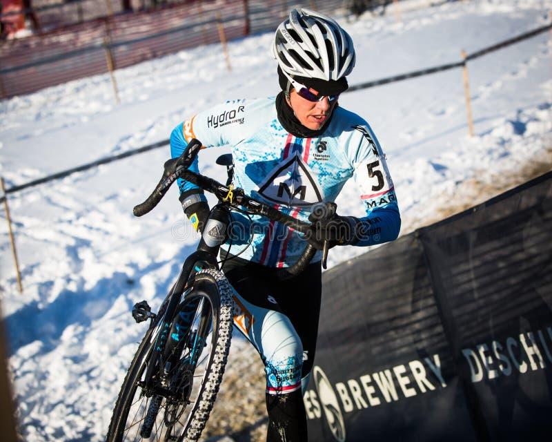 Deschutes-Brauerei-Schale Cyclocross: Nicole Duke lizenzfreies stockbild