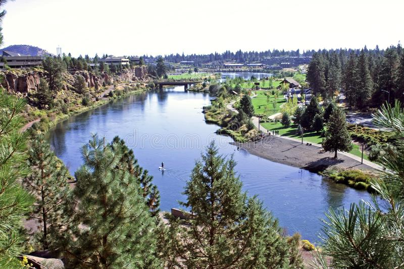 Deschutes River in the Old Mill District stock photos