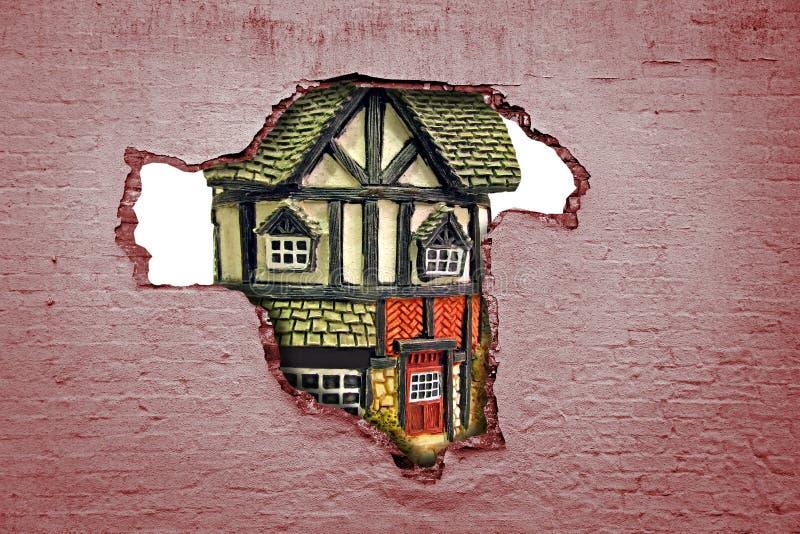 Descoberta da segurança financeira da hipoteca da propriedade da casa imagem de stock