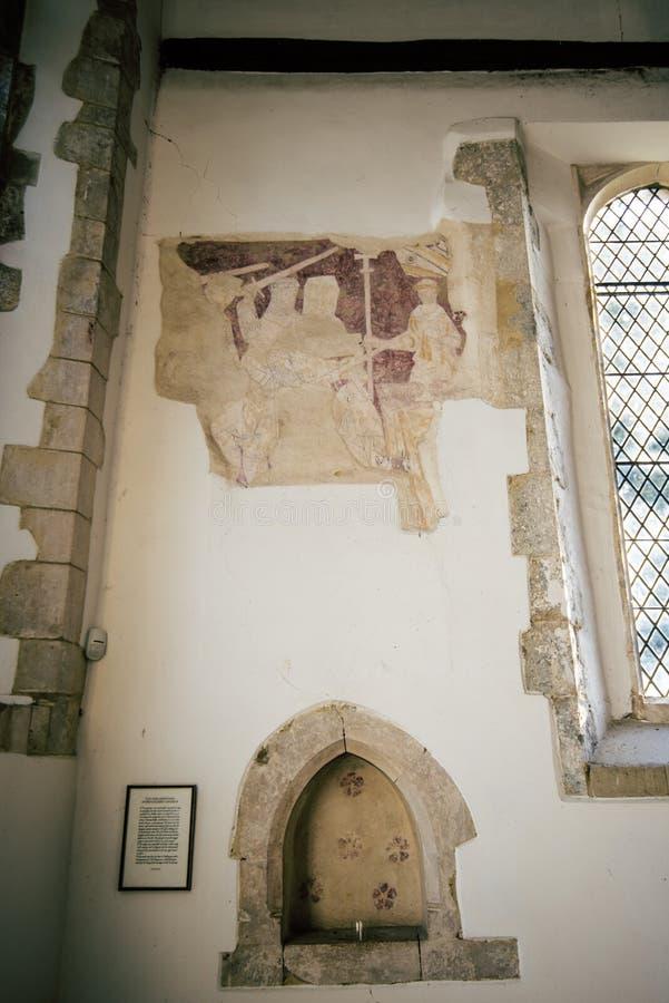 A descoberta notável de um arcebispo mostrando gráfico Thomas um nó de escota que está sendo assassinado fotos de stock royalty free