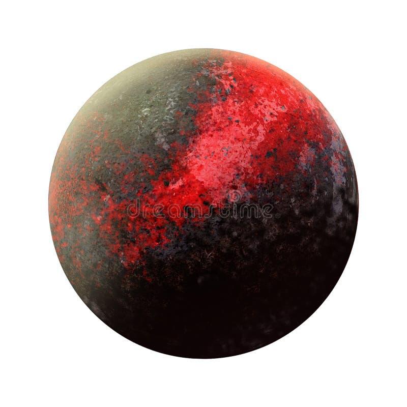 Descoberta nova de 9 planetas Nona abertura do gigante de gás Sistema solar - planeta novo Planeta isolado no fundo branco B de a ilustração royalty free