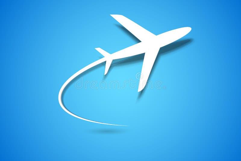 Descolagem do avião ilustração royalty free