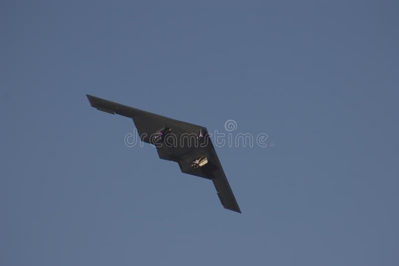 Descolagem do bombardeiro B2. foto de stock