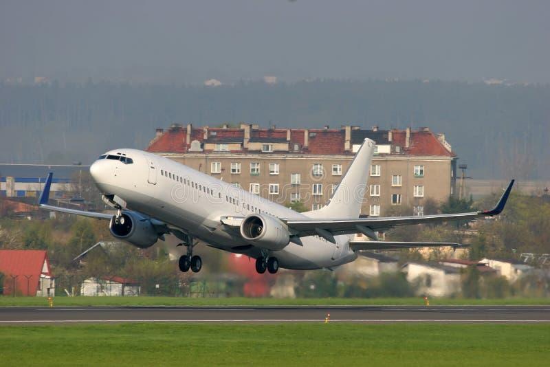 Descolagem dos aviões fotos de stock