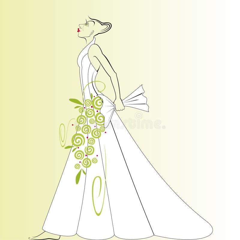 Descolamento do vestido de casamento imagem de stock