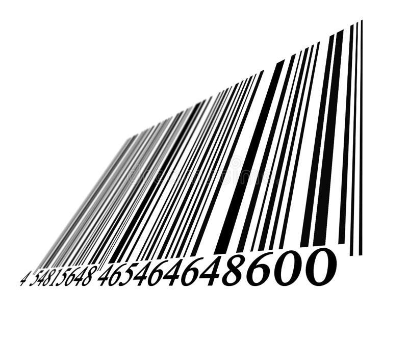 Descoloramiento del código de barras ilustración del vector