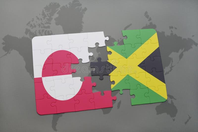 Download Desconcierte Con La Bandera Nacional De Groenlandia Y De Jamaica En Un Fondo Del Mapa Del Mundo Stock de ilustración - Ilustración de conecte, país: 100525068
