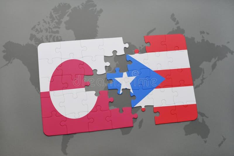 Download Desconcierte Con La Bandera Nacional De Groenlandia Y De Puerto Rico En Un Fondo Del Mapa Del Mundo Stock de ilustración - Ilustración de ilustración, gato: 100525640