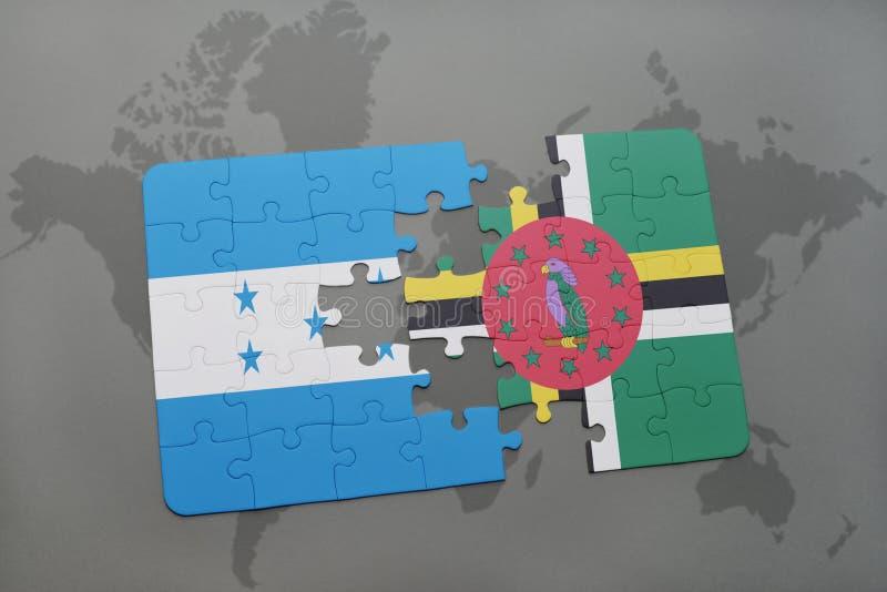Download Desconcierte Con La Bandera Nacional De Honduras Y De Dominica En Un Fondo Del Mapa Del Mundo Stock de ilustración - Ilustración de economía, amistad: 100526065