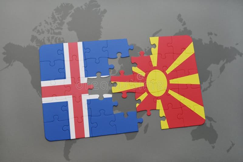 Download Desconcierte Con La Bandera Nacional De Islandia Y De Macedonia En Un Fondo Del Mapa Del Mundo Stock de ilustración - Ilustración de contacto, capital: 100526256