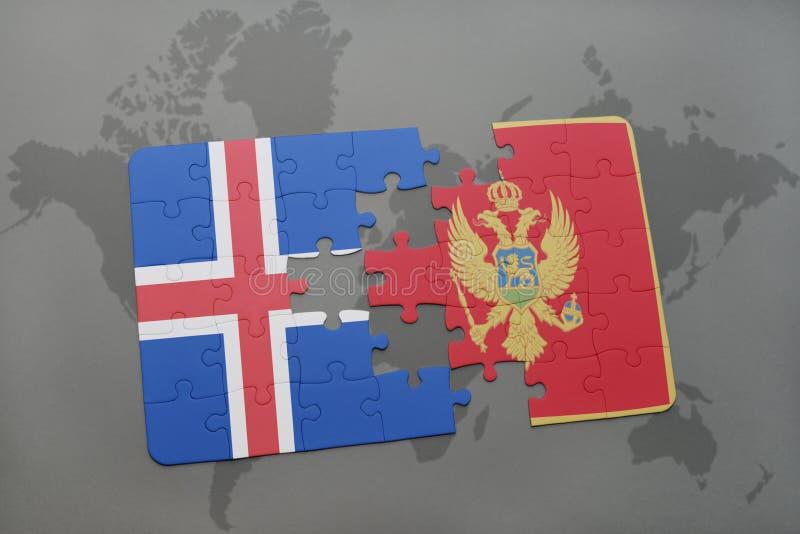 Download Desconcierte Con La Bandera Nacional De Islandia Y De Montenegro En Un Fondo Del Mapa Del Mundo Stock de ilustración - Ilustración de gato, europa: 100526458