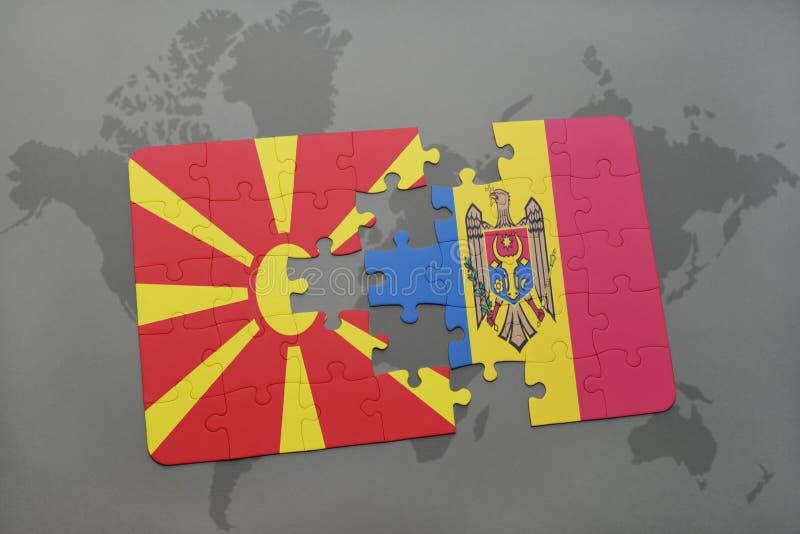 Download Desconcierte Con La Bandera Nacional De Macedonia Y Del Moldavia En Un Fondo Del Mapa Del Mundo Stock de ilustración - Ilustración de conecte, gato: 100526837