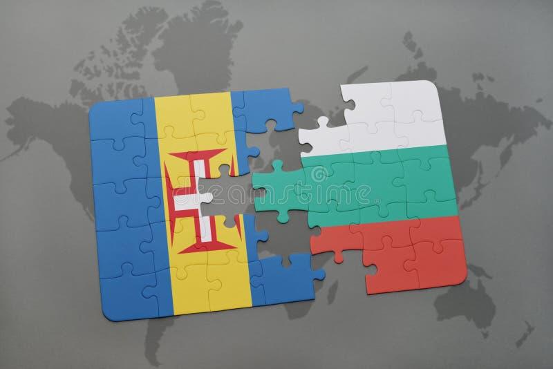 Download Desconcierte Con La Bandera Nacional De Madeira Y De Bulgaria En Un Fondo Del Mapa Del Mundo Stock de ilustración - Ilustración de finanzas, correspondencia: 100527466