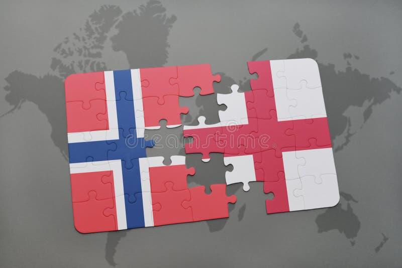 Download Desconcierte Con La Bandera Nacional De Noruega Y De Inglaterra En Un Fondo Del Mapa Del Mundo Stock de ilustración - Ilustración de británico, londres: 100527905