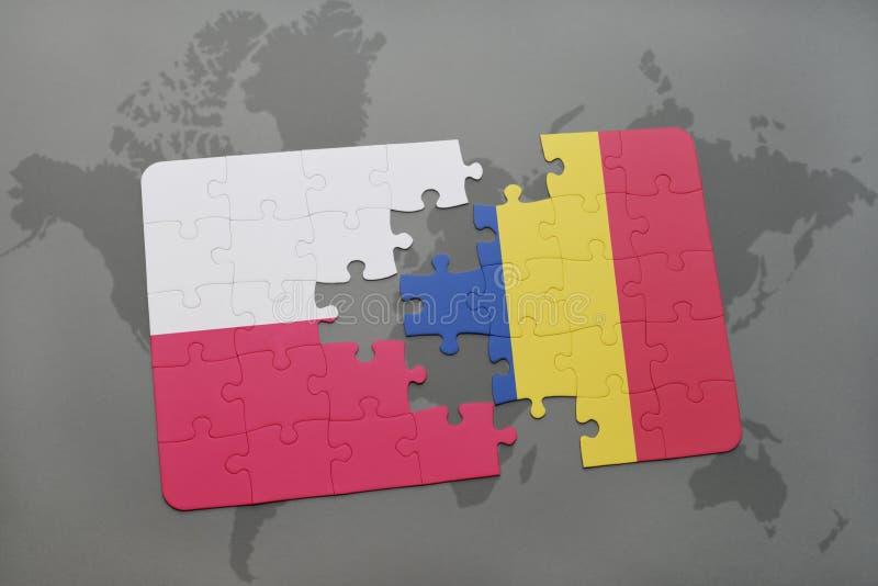 Download Desconcierte Con La Bandera Nacional De Polonia Y De Rumania En Un Fondo Del Mapa Del Mundo Stock de ilustración - Ilustración de conflicto, peligro: 100528235