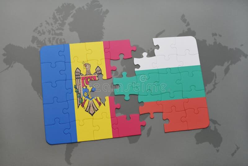 Download Desconcierte Con La Bandera Nacional Del Moldavia Y De Bulgaria En Un Fondo Del Mapa Del Mundo Stock de ilustración - Ilustración de economía, geografía: 100527601