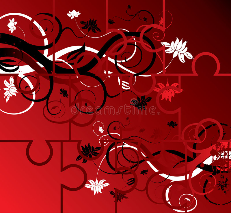 Download Desconcierte El Fondo Floral, Elementos Para El Diseño, Vector Ilustración del Vector - Ilustración de círculo, armería: 1283948