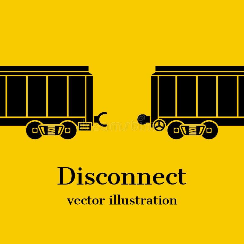 Desconecte el vector del concepto stock de ilustración