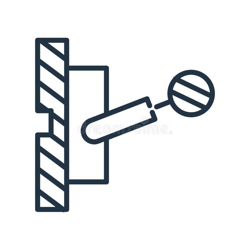 Desconecte el vector del icono aislado en el fondo blanco, desconéctelo libre illustration