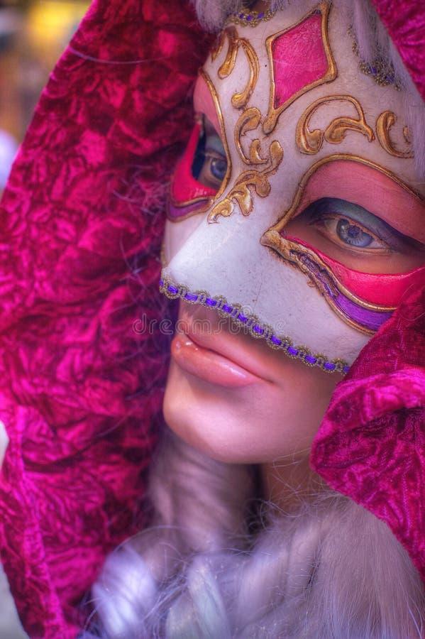 Desconhecido mascarado. fotografia de stock royalty free