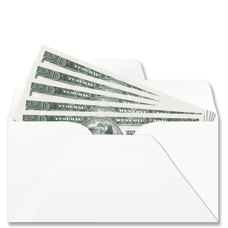 Desconte dentro o envelope do banco fotografia de stock royalty free