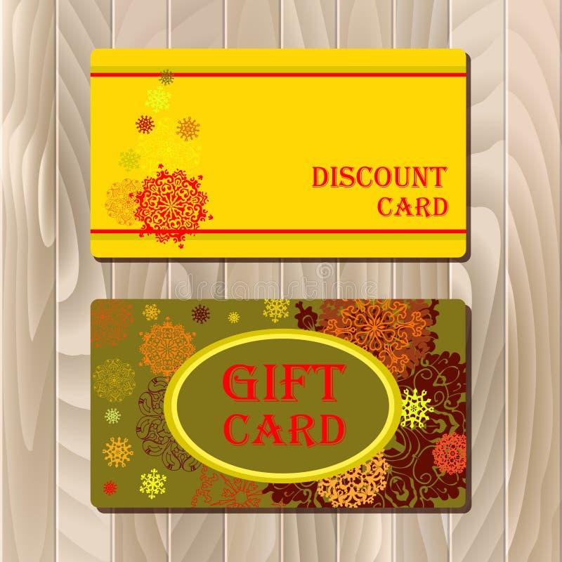 Desconte o cartão, comprovante, vale-oferta, molde do modelo da venda do molde do vale ilustração stock