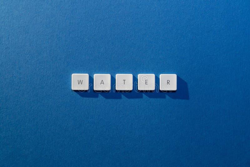 Descrição da água da palavra fotografia de stock royalty free