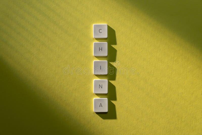 Descrição da palavra China imagens de stock royalty free