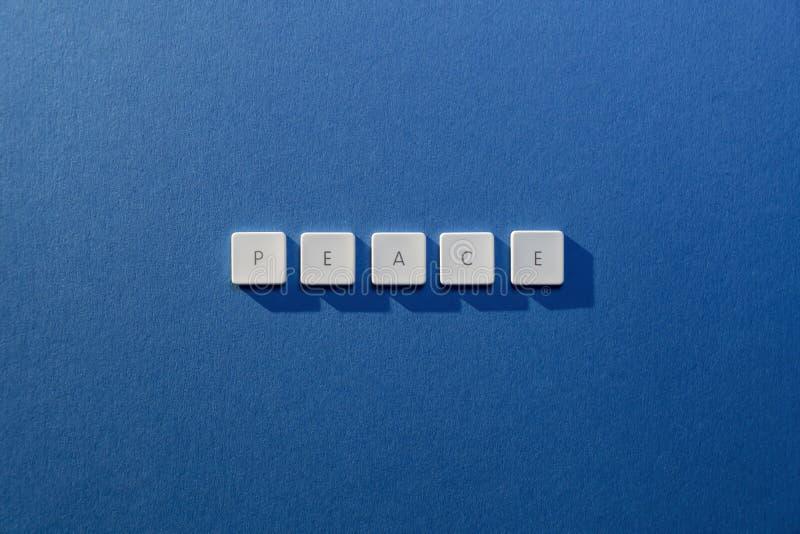 Descrição da paz da palavra fotos de stock