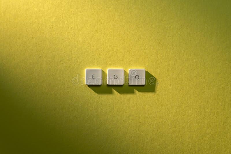 Descrição do ego da palavra foto de stock