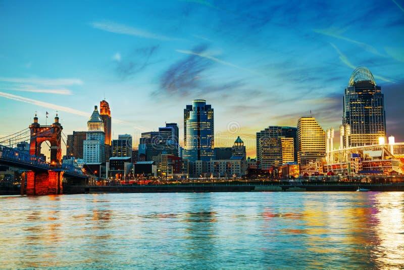 Descripción céntrica de Cincinnati imagen de archivo libre de regalías