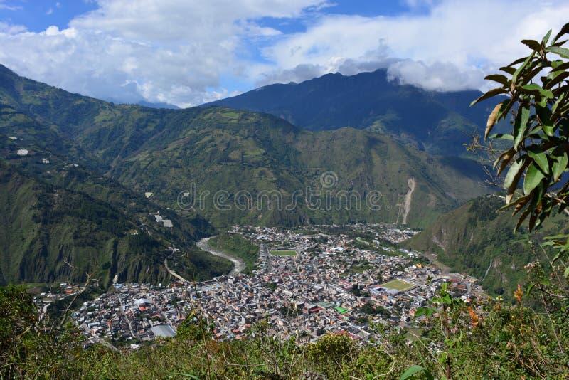 Descripción de Baños, Ecuador imagenes de archivo