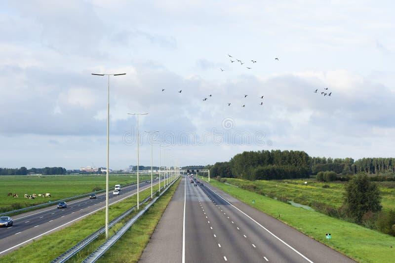 Descripción de la carretera A4 fotografía de archivo