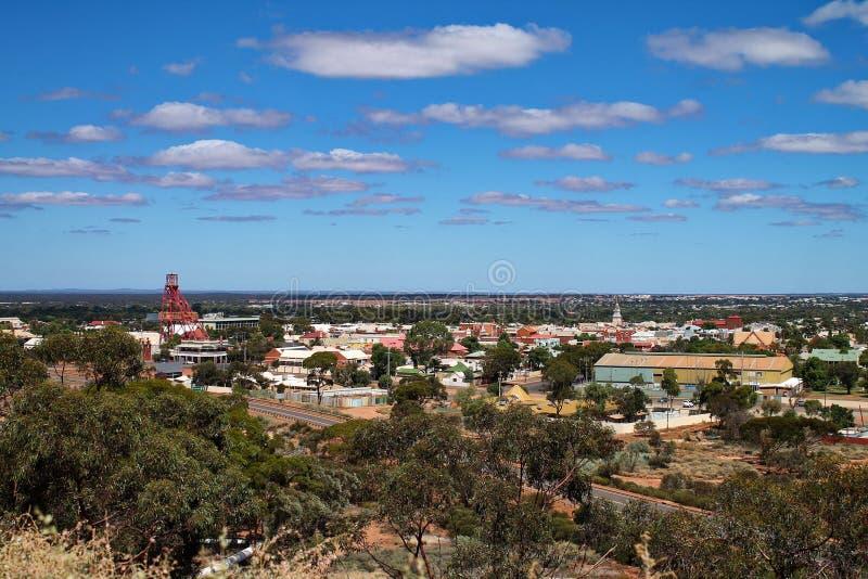 Descripción de la ciudad de Kalgoorlie, Australia occidental foto de archivo