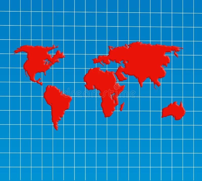 Descripción de la correspondencia de mundo ilustración del vector