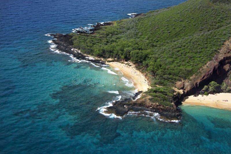 Descripción de la playa de Maui. imagen de archivo libre de regalías