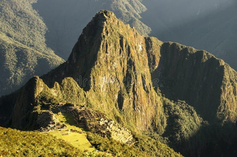 Descripción de Macchu Picchu Montana fotografía de archivo