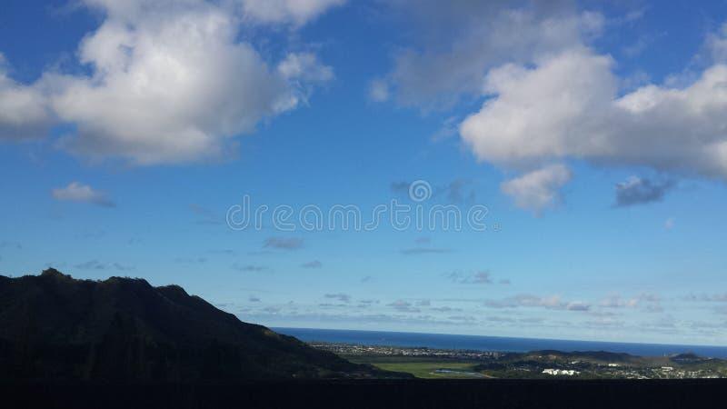 Descripción hawaiana del paisaje imagenes de archivo