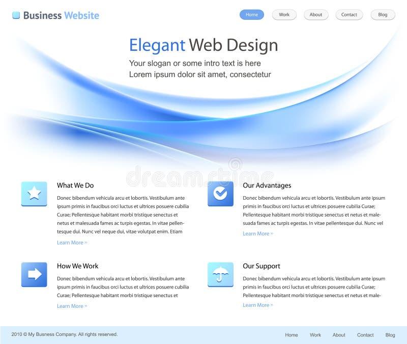 Descripteur élégant de conception de site Web illustration de vecteur