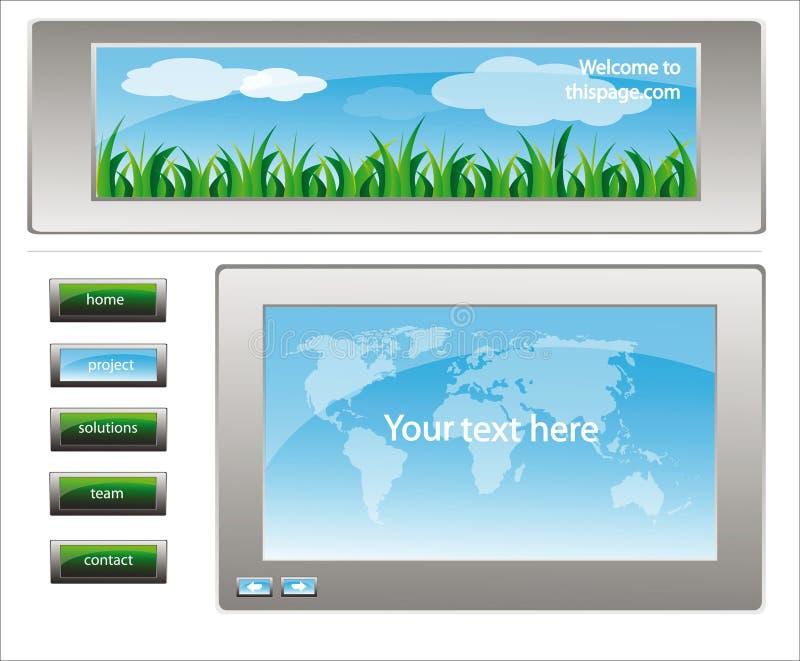 Descripteur 26 de conception de site Web illustration stock