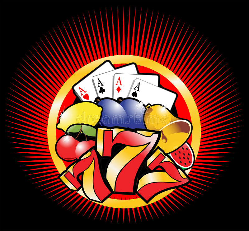 Descripteur 3 de casino illustration stock