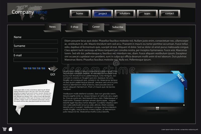 Descripteur 43 de conception de site Web illustration libre de droits
