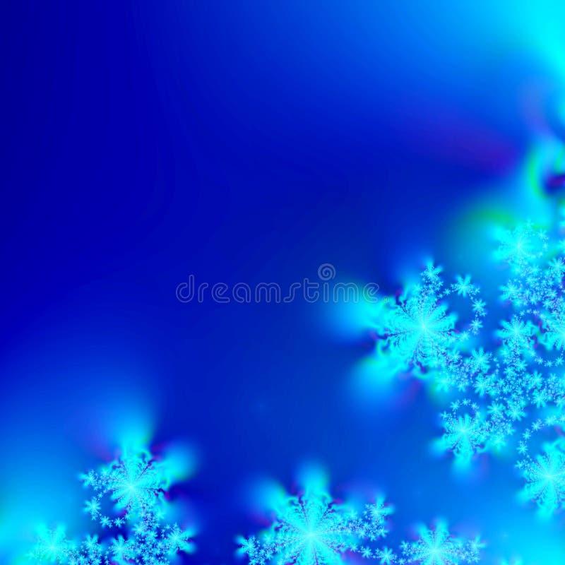 Descripteur abstrait bleu et blanc de fond de flocon de neige illustration de vecteur