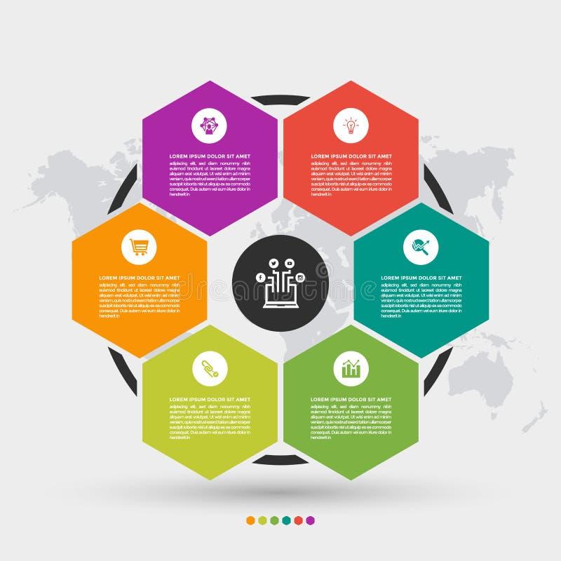 Descripteur abstrait de conception d'infographics illustration libre de droits